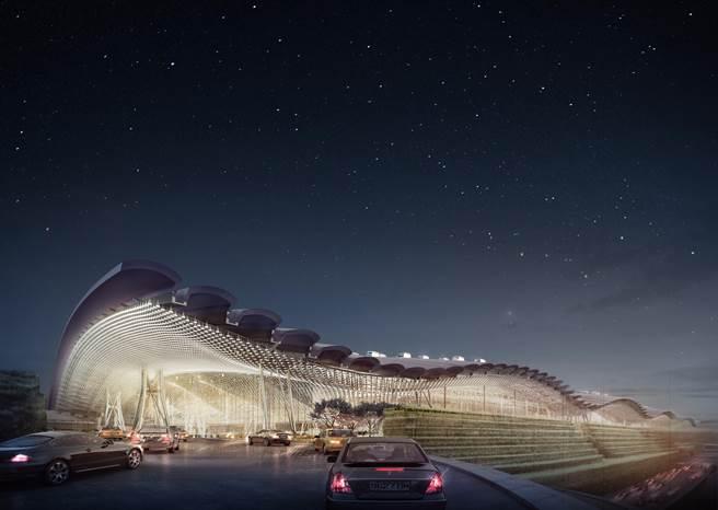 桃園國際機場第3航廈完工示意圖。(桃機公司提供/陳祐誠傳真)