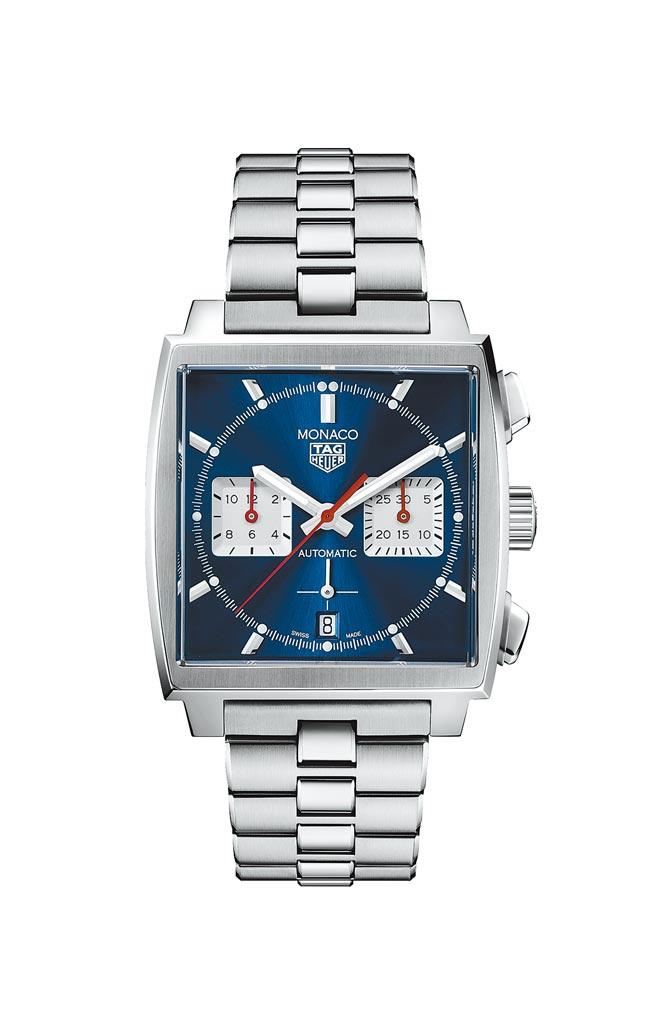 泰格豪雅Monaco H02 自動計時腕表,22萬2100元。(TAG Heuer提供)