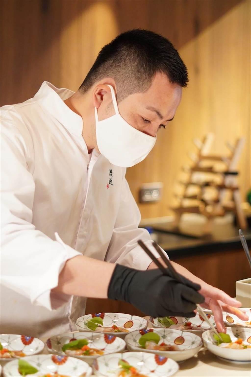 渡邉信介的料理帶給饕客傳統與創新的驚喜感。(何書青攝)