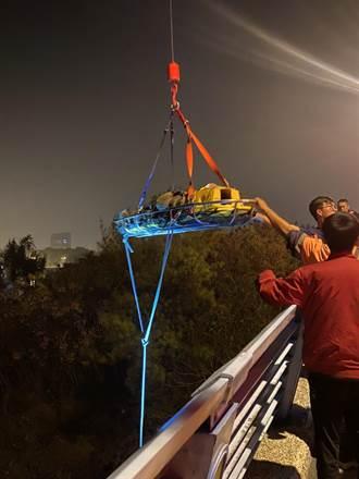 深夜漁光橋上留遺書輕生 男子躺橋下涵洞獲救