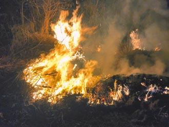 整地引火燒廢棄物 苗栗環保局究責