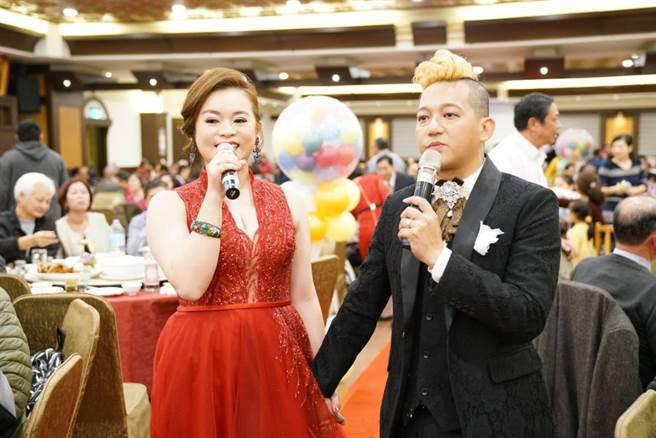 徐紫淇22日與另一半黃立忠結婚。(萬鴻提供)