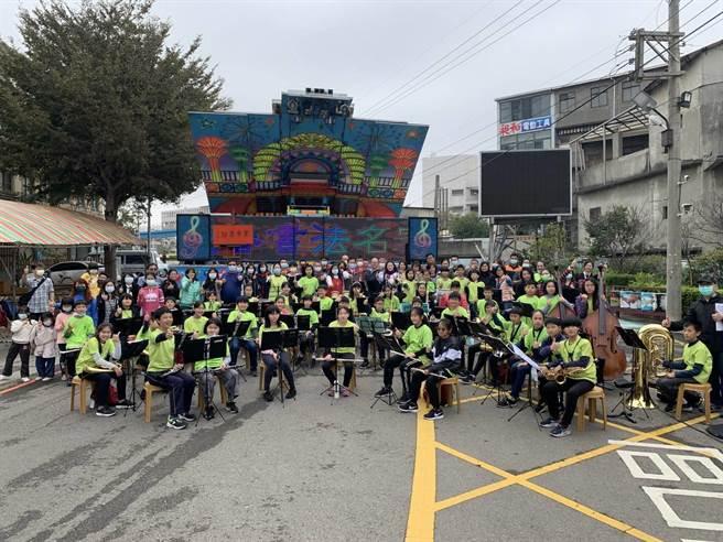 今年的活動並邀請竹林國小管樂隊A團等演出。(主辦單位提供)