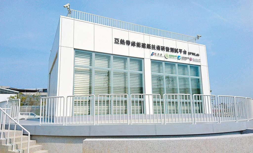 工研院與成大共同在沙崙綠能科技示範場域建置的亞熱帶首座綠能建築技術研發測試平台。圖/本報資料照片
