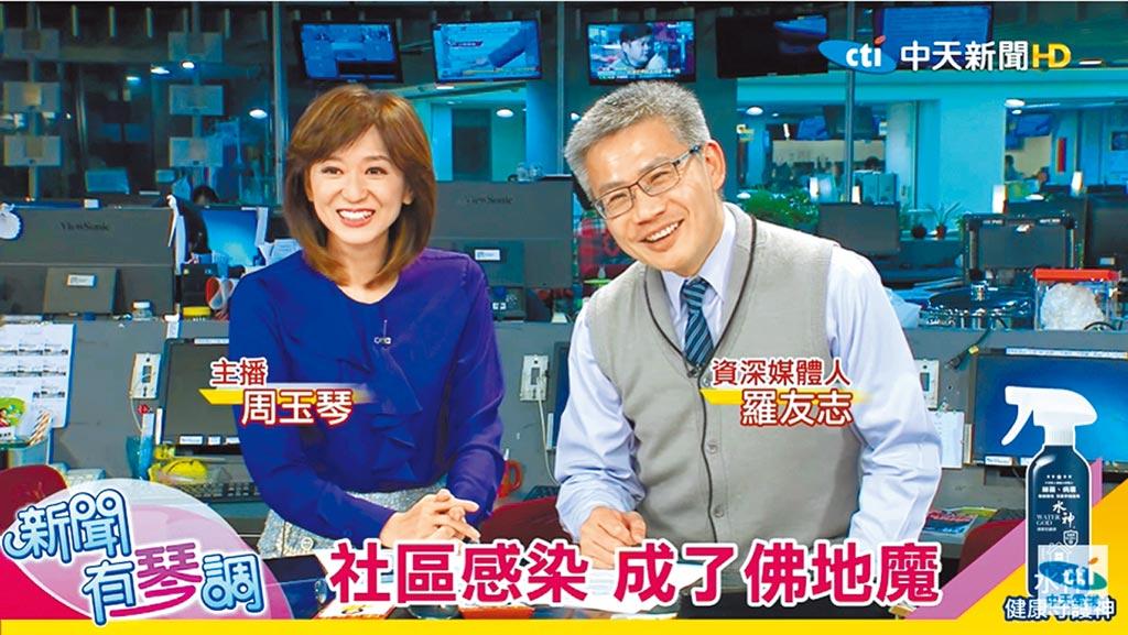 周玉琴(左)邀請名嘴羅友志擔任嘉賓,2人一搭一唱默契十足。(摘自YouTube)