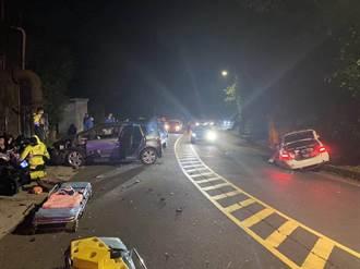 轎車過彎時疑失控 新店車禍4人輕傷送醫
