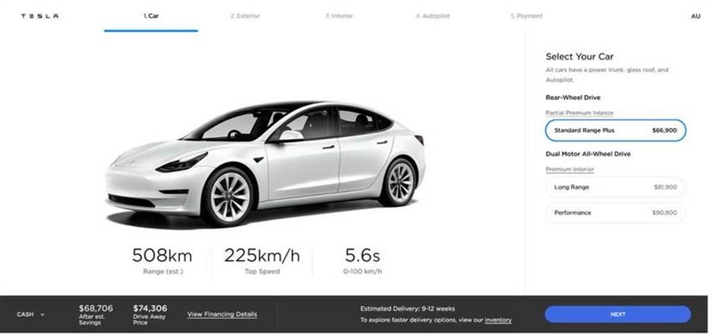 使用磷酸鐵鋰電池的右駕版 Model 3 將登陸澳洲,價格卻沒降