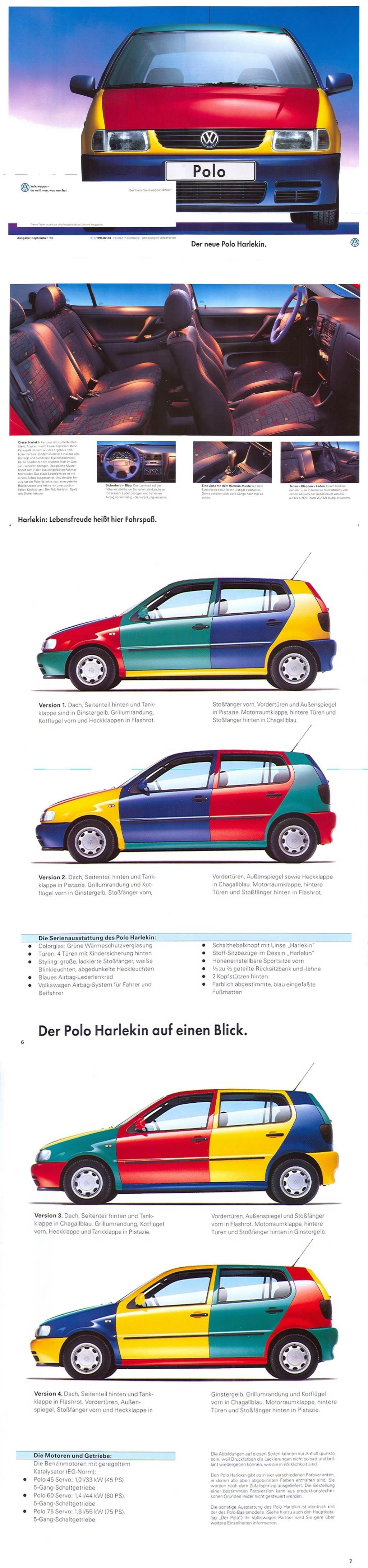 四色彩繪車重出江湖!荷蘭 Volkswagen 推出獨一無二「Polo Harlekin」!