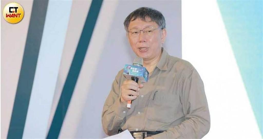 台北市長柯文哲為外界「誤解」蔡壁如頗感無奈。(圖/記者林士傑攝)