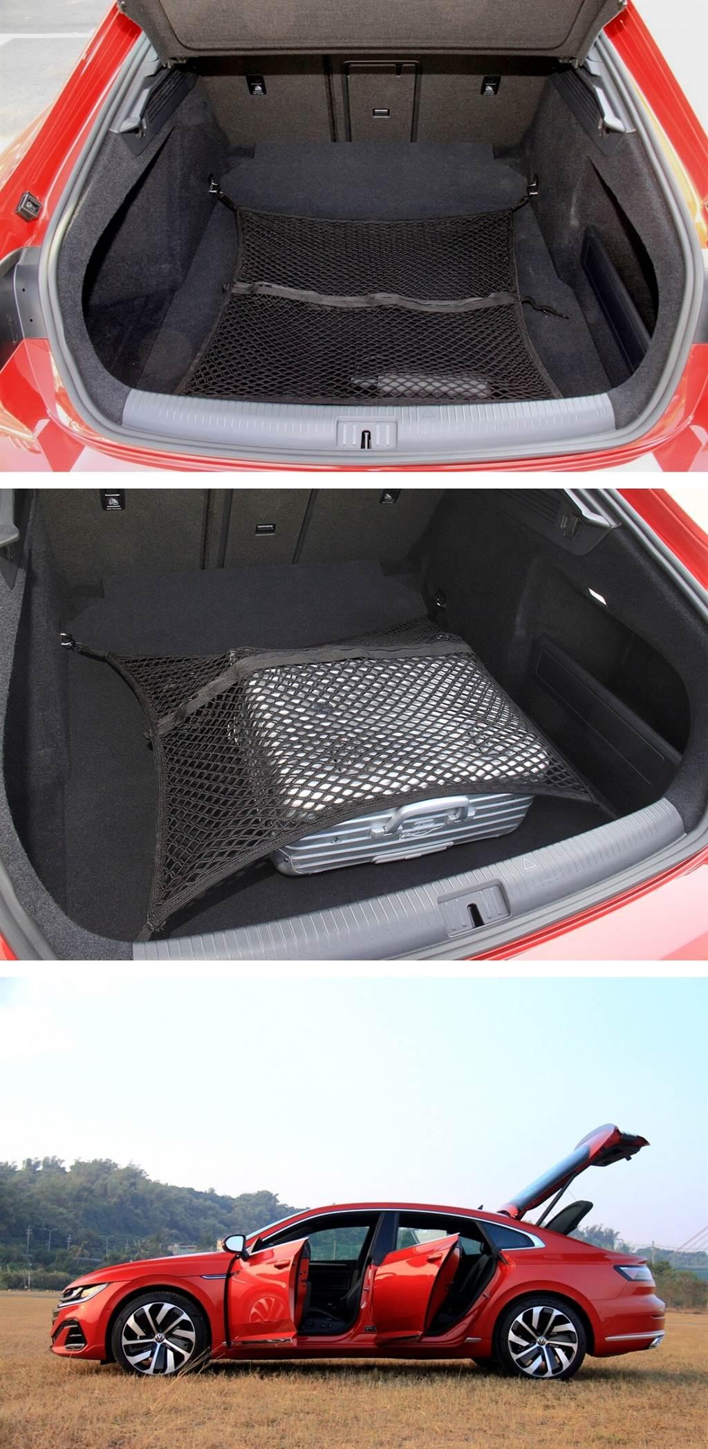 Fastback車型尾門為掀背式開啟,取放物品能比Sedan車型有更佳的便利度。