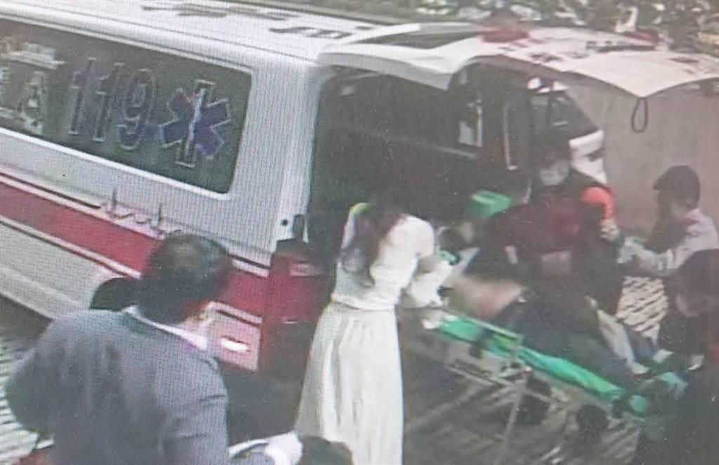 台南市一家飯店24日一場婚宴,新娘的爺爺發生吞食意外噎死,家屬急報案送醫。(讀者提供/程炳璋台南傳真)