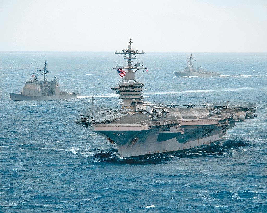 美國羅斯福號航空母艦。(摘自美國羅斯福號航空母艦官方臉書粉絲團)