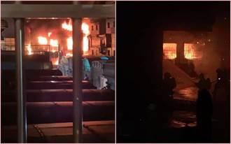 台南永康铁皮工厂凌晨大火 民眾睡梦中被爆炸声吓醒