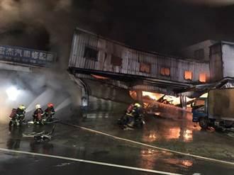 台南永康貨運鐵皮工廠清晨大火 無人受傷