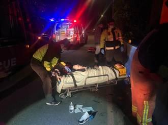 17歲無照少年騎車夜遊自撞護欄 後座乘客摔落2公尺邊坡命危