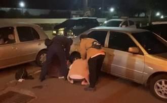 駕駛開贓車衝撞逃逸 遭警壓制帶回偵訊