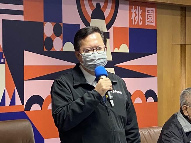 鄭文燦宣布防疫對策全恢復去年上半年至2月底。(蔡依珍攝)