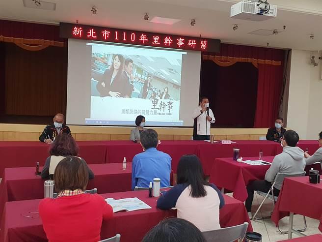 新北市長侯友宜今(25日)上午出席里幹事研習活動。(葉書宏攝)