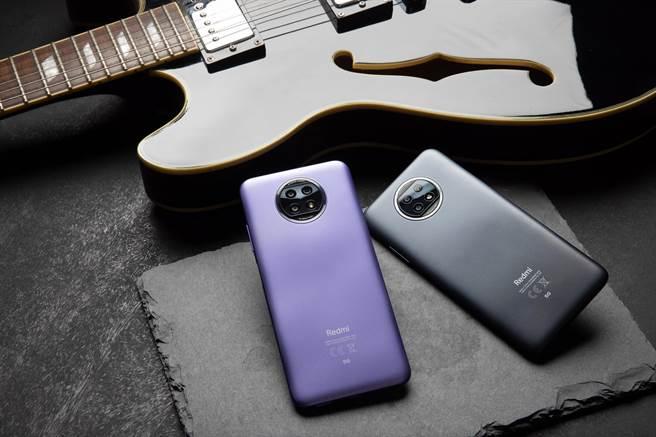 Redmi Note 9T 5G提供晨曦紫、日暮黑兩色選擇。(小米提供/黃慧雯台北傳真)