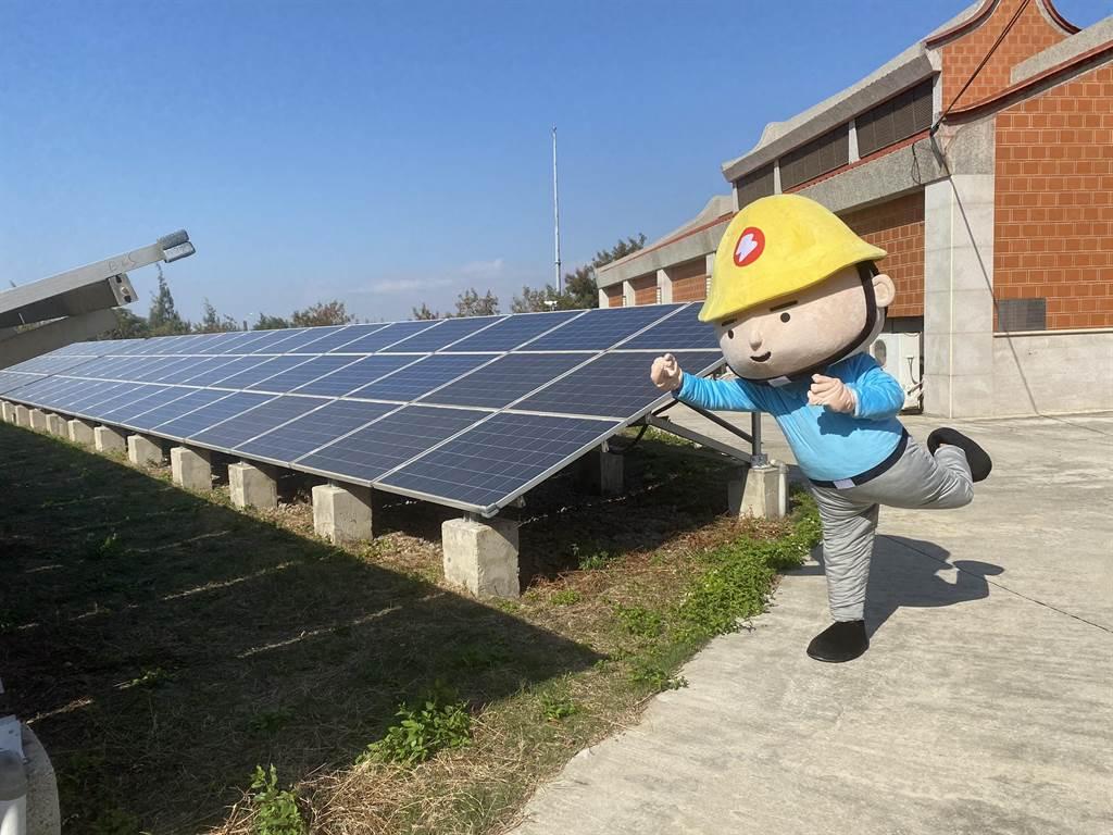 台电向配合发展「金门低碳岛」的目标大步迈进。(台电提供)