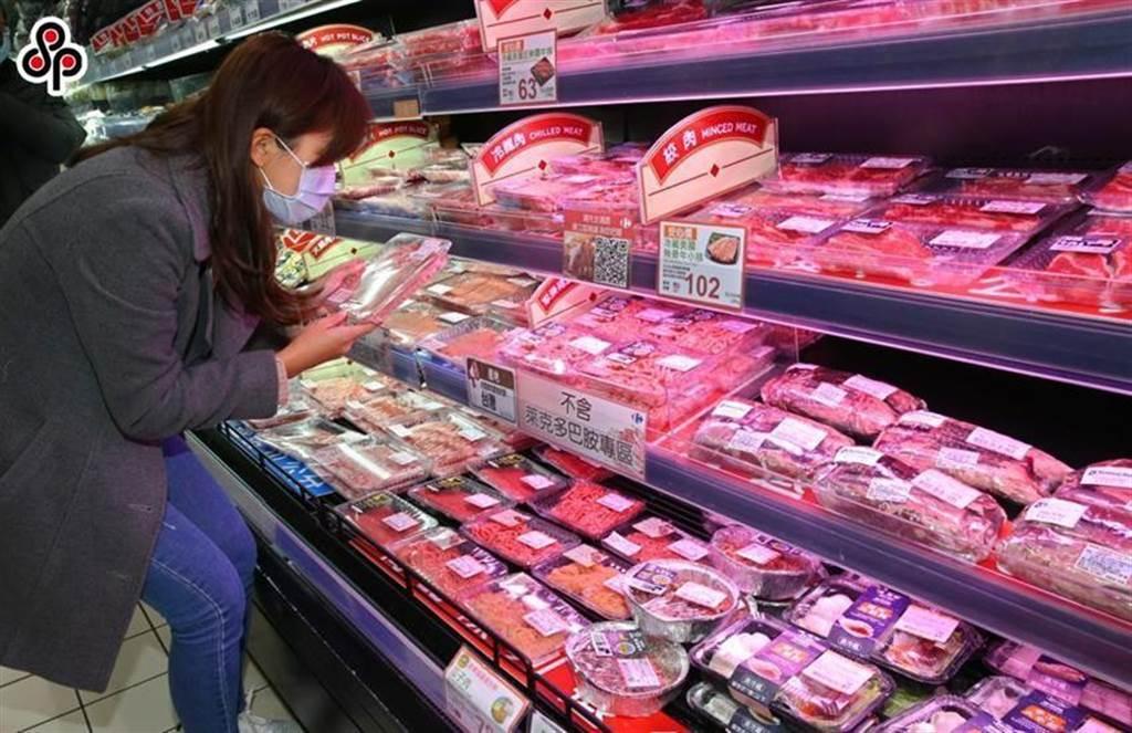 量贩店设置无莱剂肉品专区。图/本报资料照片
