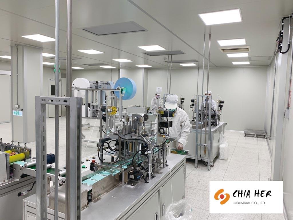 佳和投入平面醫療口罩生產,已獲衛福部認證,同時產品經SGS檢驗通過,並出具無毒證明,深受客戶青睞。圖/佳和提供