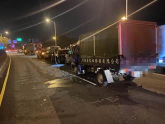 彰化東外環5車連環撞 2人受傷送醫