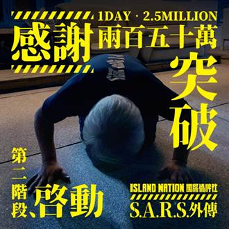 集資拍「SARS」防疫故事1天破250萬 製作人臉書貼出下跪照