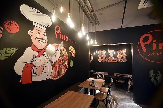 開在台北市中山北路六段的〈Pino Pizzeria〉二店,面積不大、只有26個座位。(圖/姚舜)