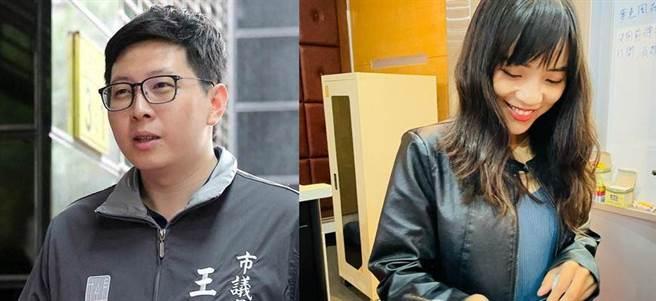 前民進黨桃園市議員王浩宇(左)、無黨籍高雄市議員高雄黃捷(右)。(合成圖/中時資料照、黃捷臉書)