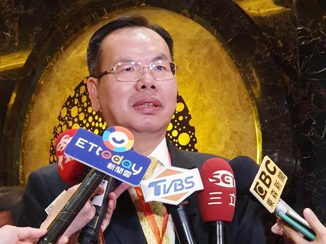 廈門市台商投資企業協會會長吳家瑩。(藍孝威攝)