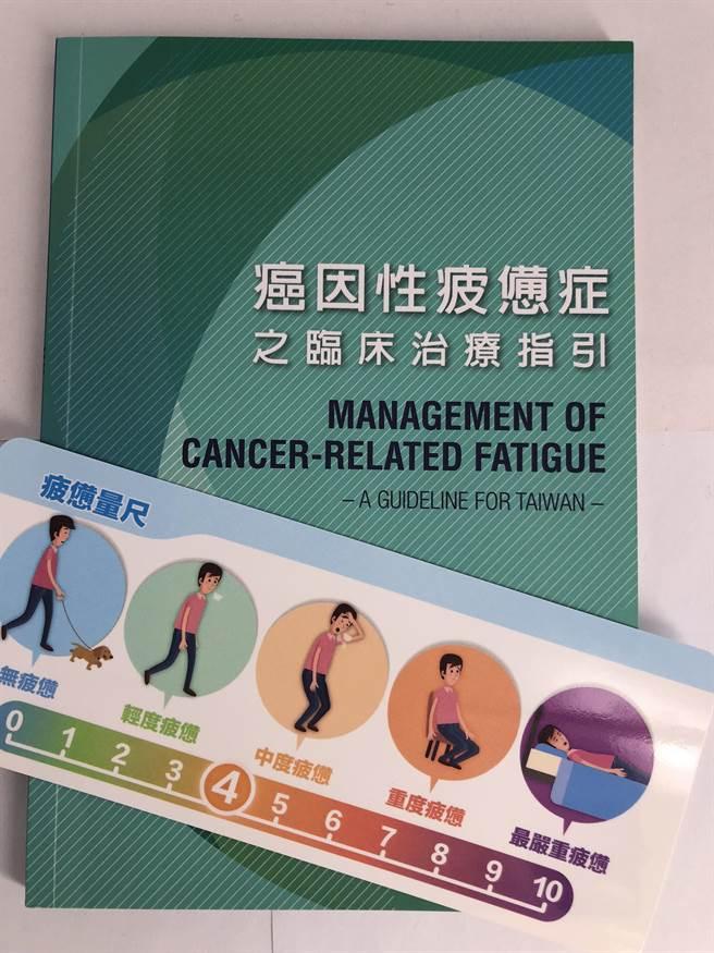 醫護界編訂的癌因性疲憊症之臨床治療指引,提高病人與醫護人員對癌疲憊的重視。(懷特生技提供)