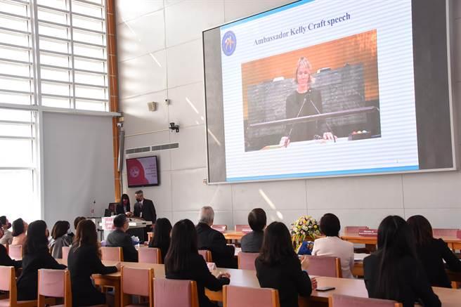 新北市南山中學第十屆模擬聯合國會議於1月26日正式展開。(南山中學提供)