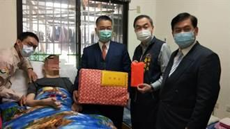 徐國勇、黃國榮關懷中市義務役受傷癱瘓退伍人員拜早年