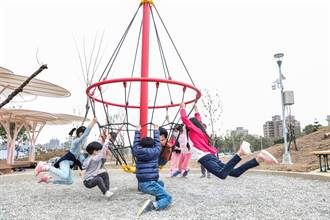 竹北首座共融式公園 特公盟搶先測試遊具