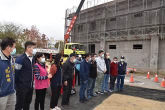 頭份社區活動中心大樓工程 27日舉行上梁典禮