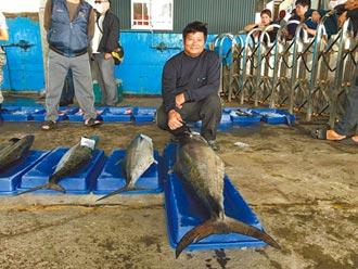 台東漁民捕獲25.3kg大土魠 進帳3.7萬