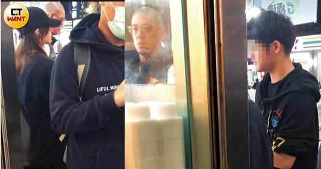本刊曾直击蒋友柏带着一双儿女去买手摇饮,亲子关系融洽。(左:蒋得曦、右:蒋得勇)(图/本刊摄影组)