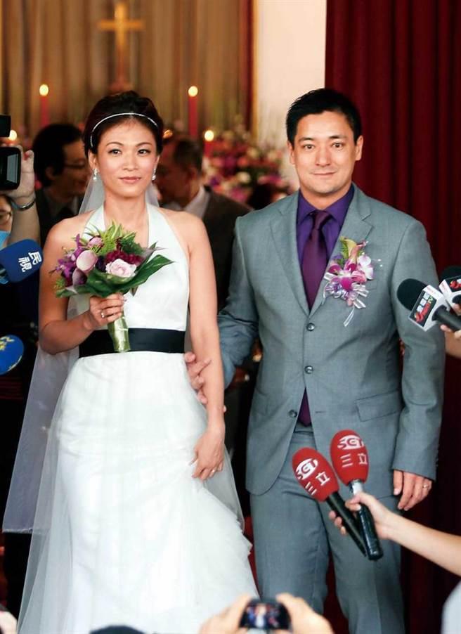 蒋友常2012年与郭秋君结婚。(图/报系资料库)