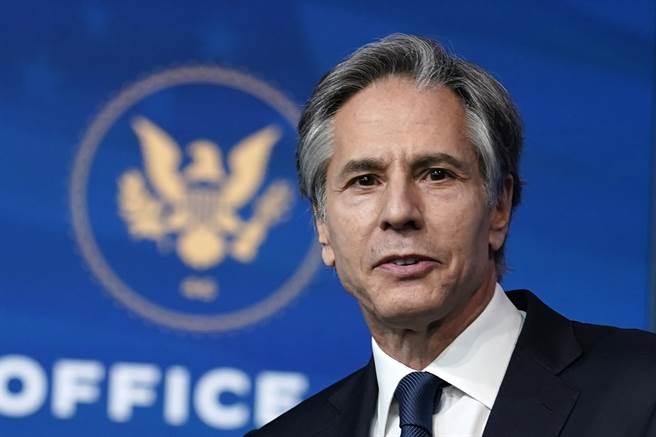 美國總統拜登指名布林肯(Antony Blinken)擔任國務卿,參議院26日通過這項人事案。(圖/美聯社)