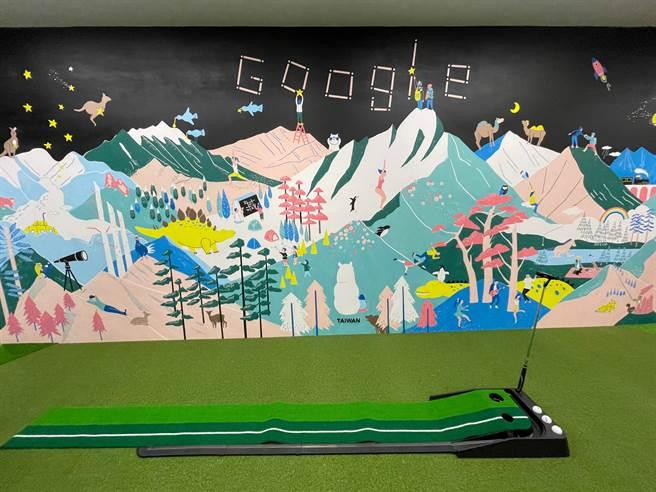 Google Tpark辦公室16F。(黃慧雯攝)