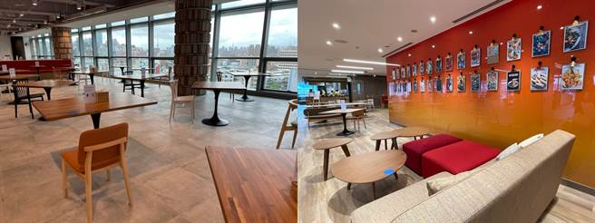 Google Tpark辦公室9樓員工餐廳(2)。(黃慧雯攝)