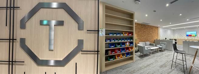 Google Tpark辦公室10樓TECH SHOP。(黃慧雯攝)
