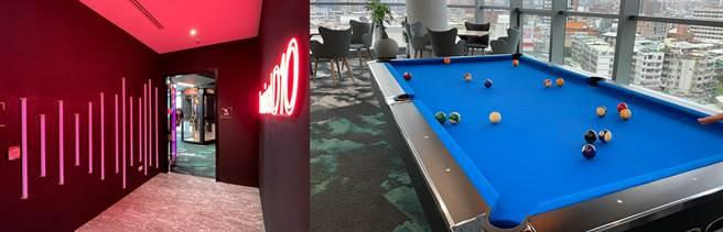 Google Tpark辦公室10樓遊戲室(1)。(黃慧雯攝)