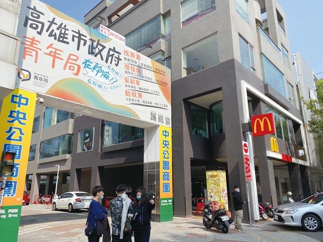 中央公園商圈位於大統百貨精華區,200多家的店家,空置率卻達30%。圖/顏瑞田