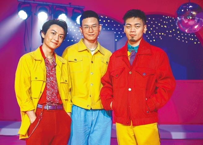 曾連續3年入圍金曲獎的茄子蛋由阿德(左起)、阿斌及阿任組成。(粘耿豪攝)