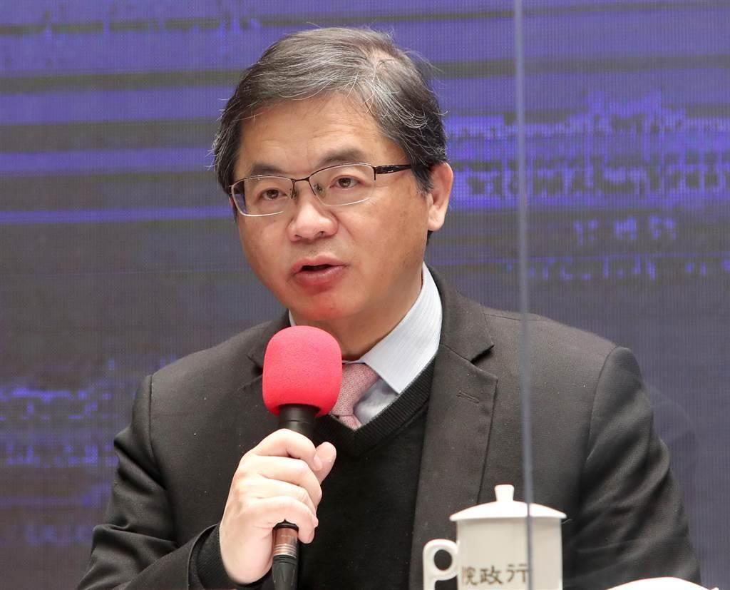政院回應大陸對台灣豬肉禁令。行政院發言人李孟諺。(圖/鄭任南攝)