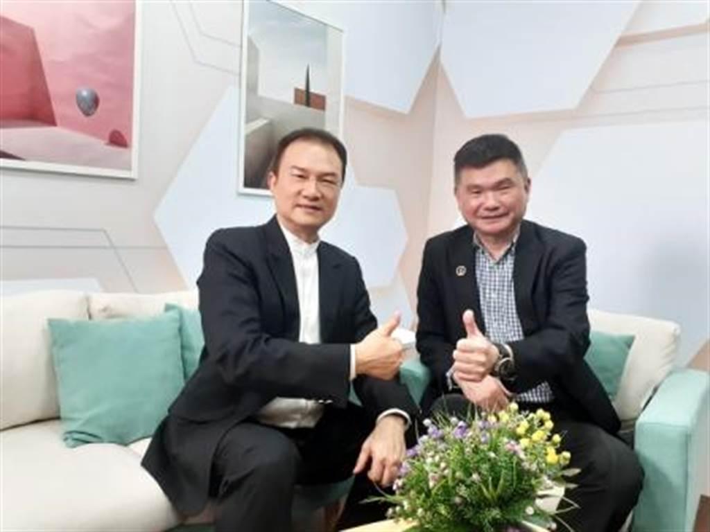 理財周刊發行人洪寶山(左)、林進榮(右)。(圖/理財周刊提供)