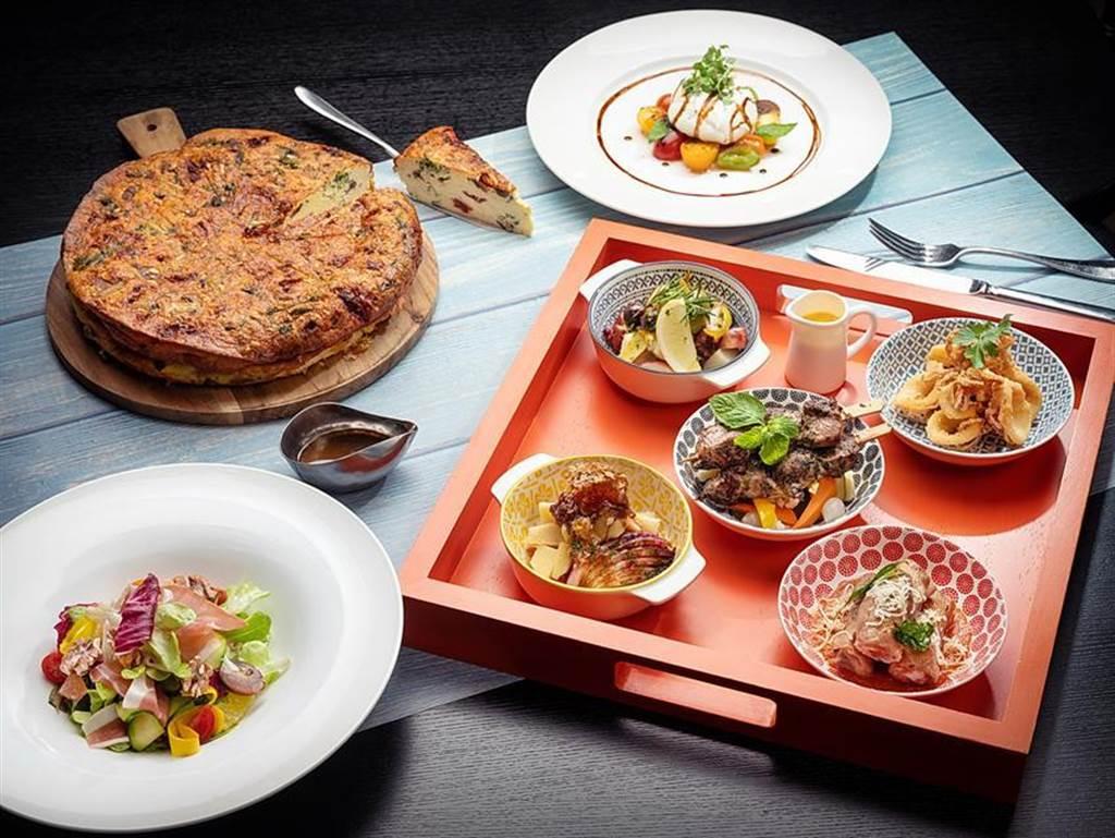 台北君悅酒店Ziga Zaga義大利餐廳推出新菜,其中有六款以街頭小吃概念設計。圖/台北君悅酒店