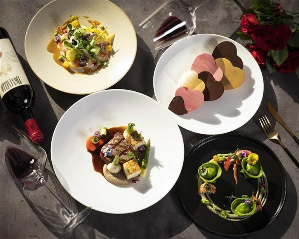 香格里拉台北遠東飯店馬可波羅義大利餐廳「饗愛」 經典套餐,每位4,250元+10%。圖/香格里拉台北遠東國際大飯店